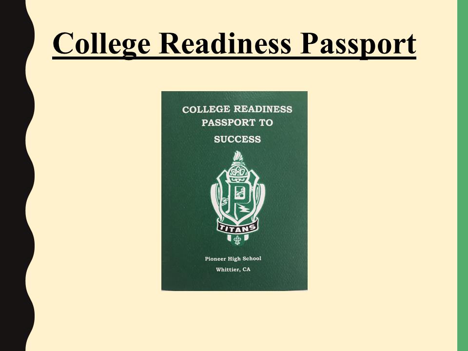 College Readiness Passport image slide
