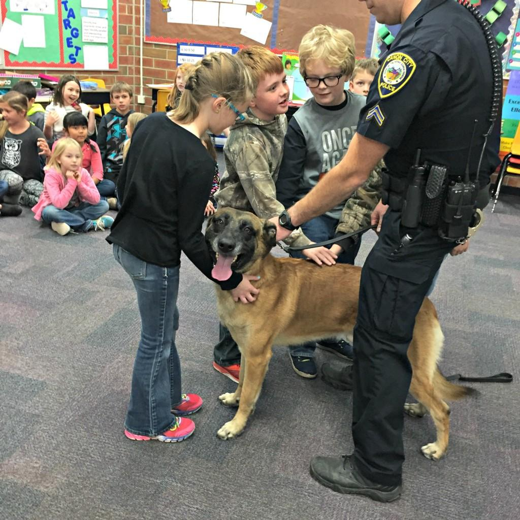 K-9 Dog with 3rd graders #6