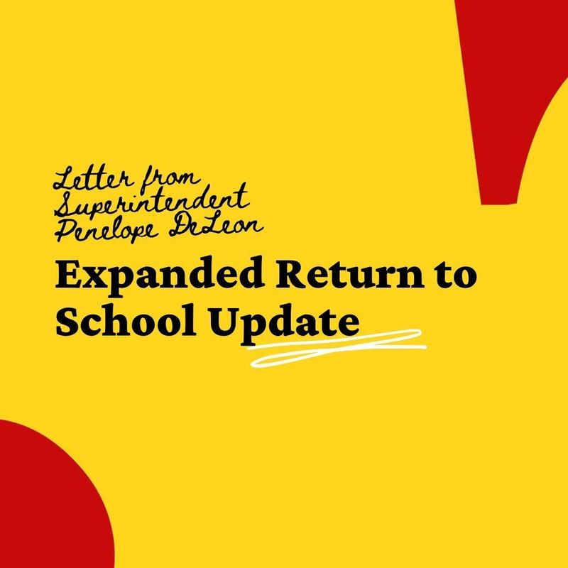 expanded return to school update banner