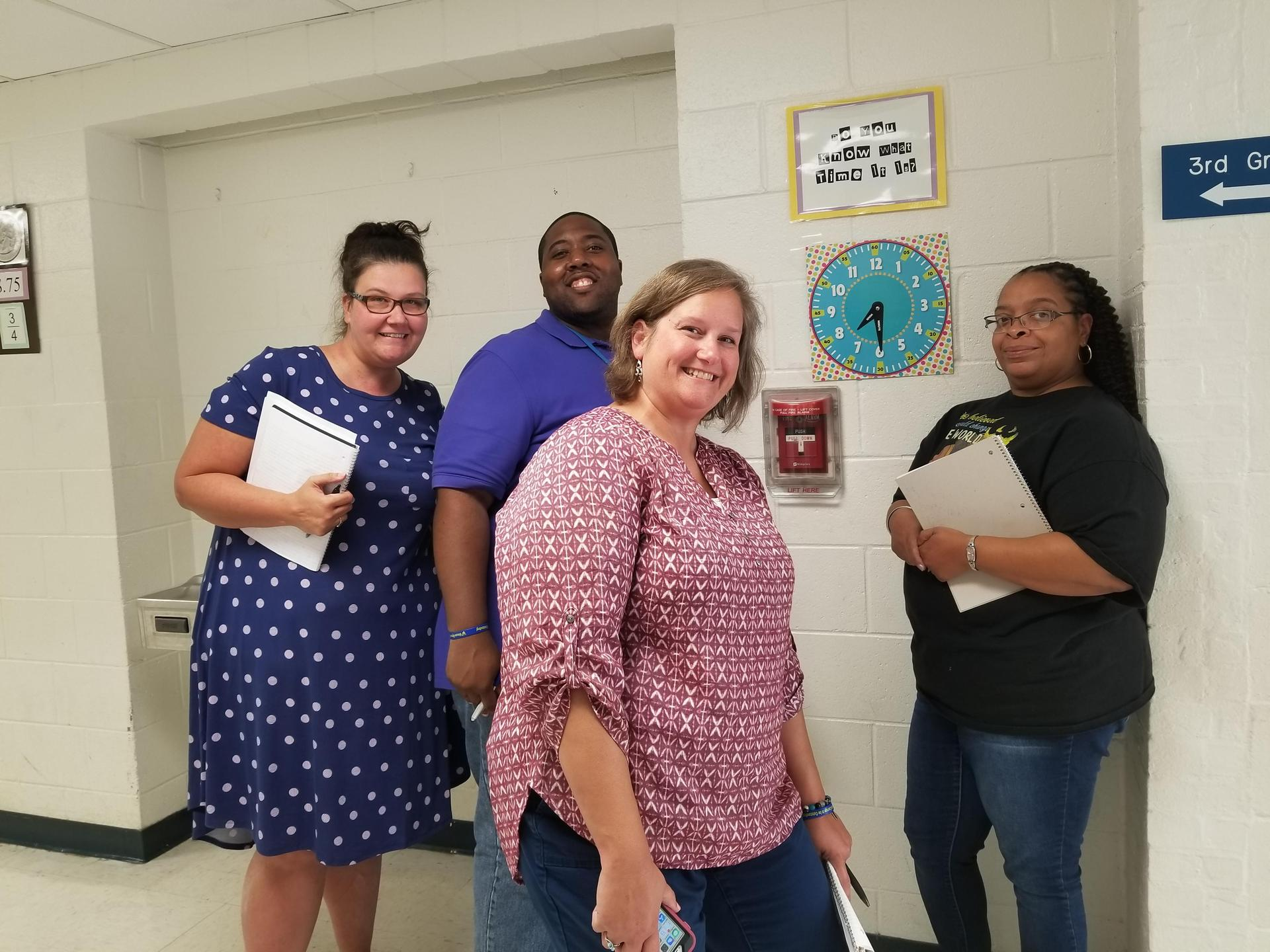 Fifth Grade teachers with new Music Teacher Mr. Garland