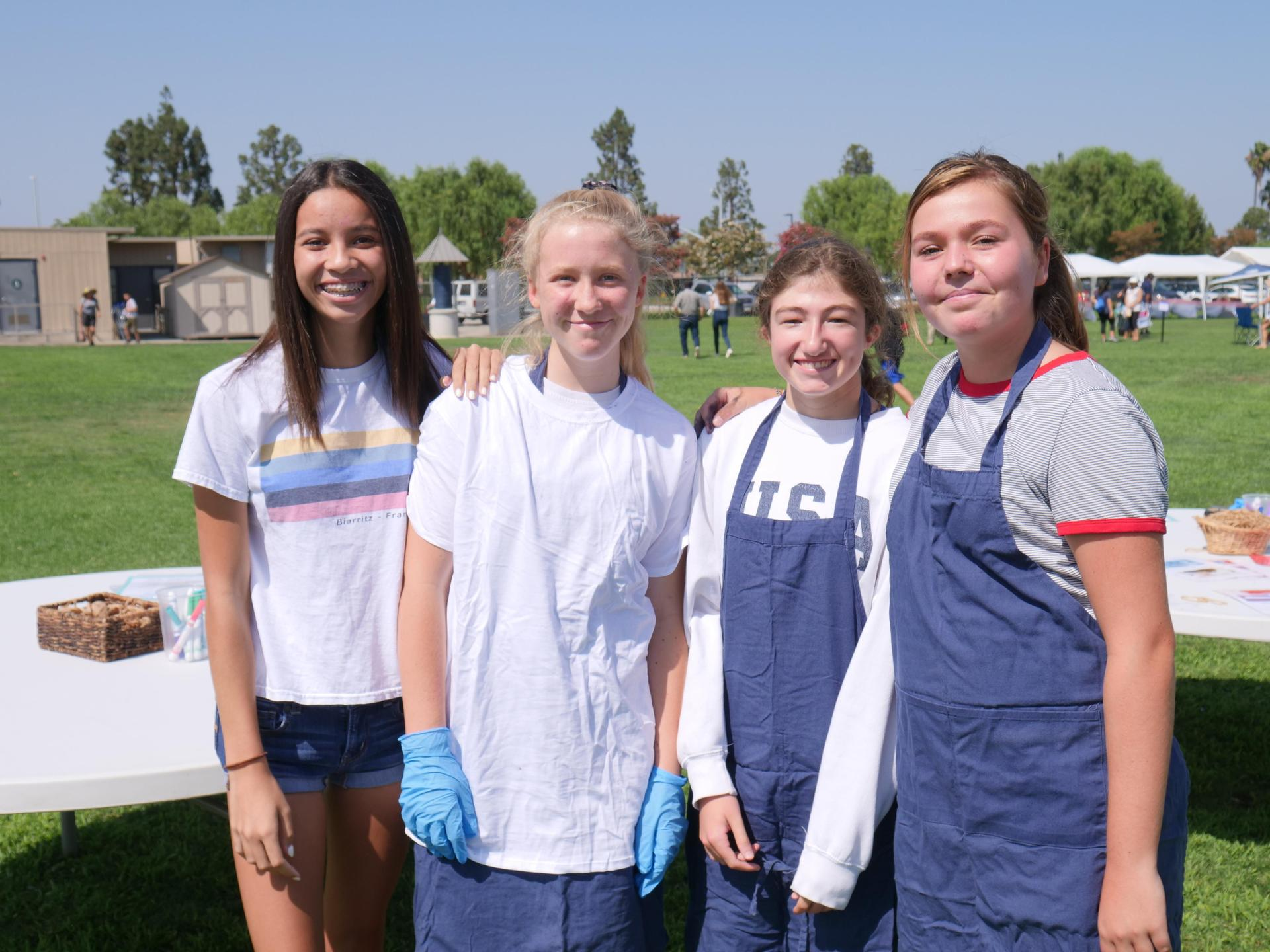 Student volunteers at the Husky Pride Picnic