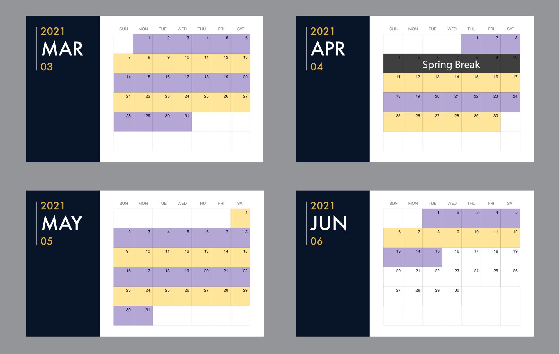 calendar graphic for the Hybrid Split schedule