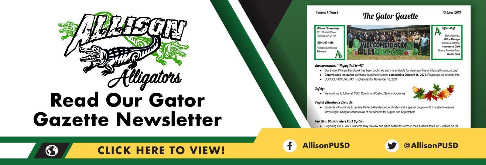 Gator Gazette Banner