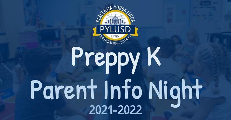 Preppy K Parent Information Night on January 28