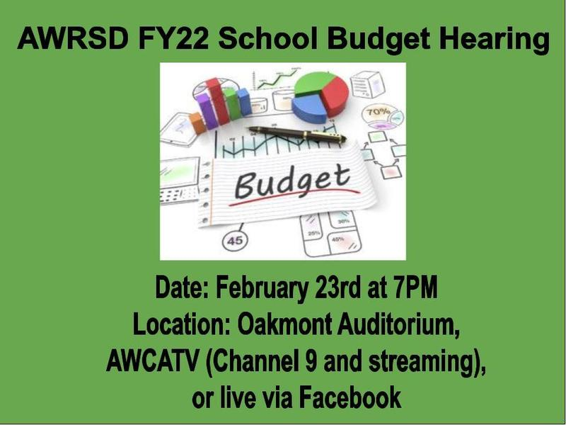 AWRSD FY22 Budget Hearing Featured Photo