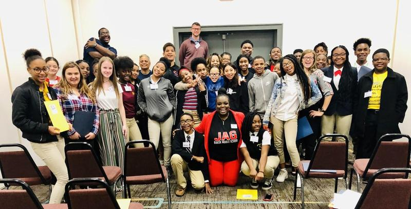 A photo of JAG students at the 2019 Fall Conference