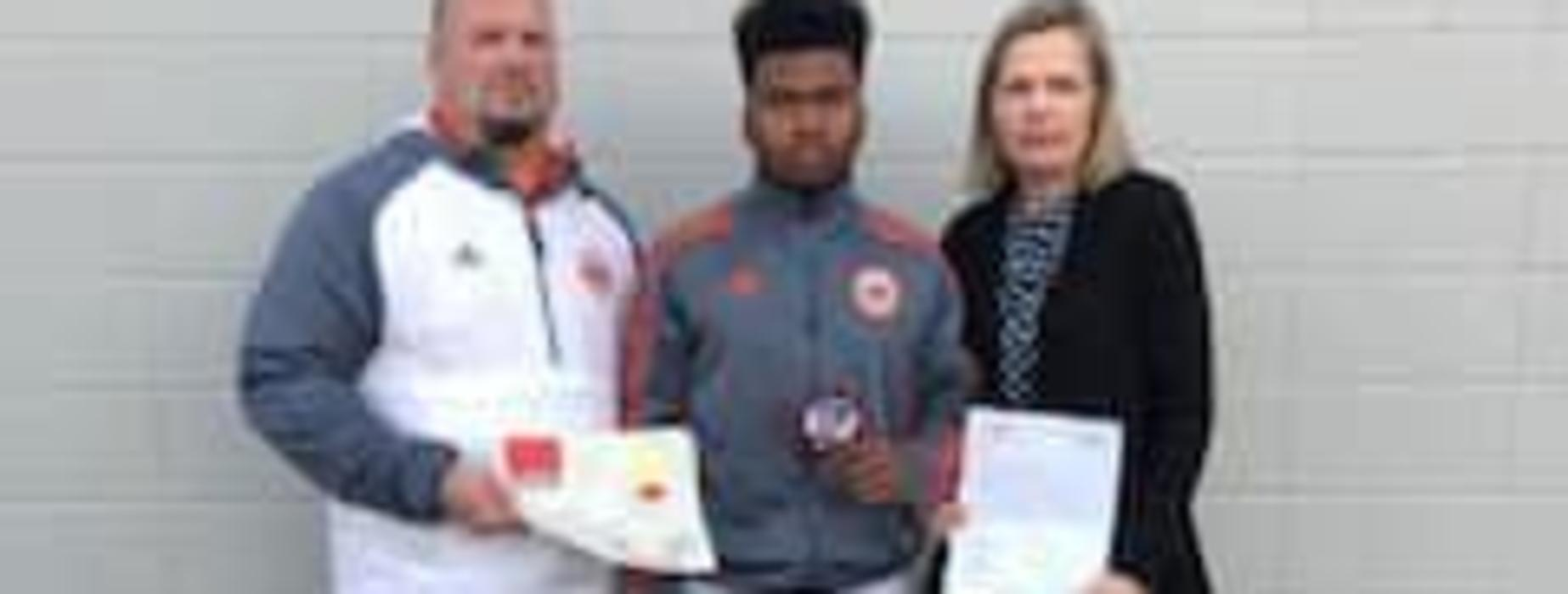 Congratulation to Adrian E. -KLFY~Athlete of the Week ~ Beau Chene Soccer Forward