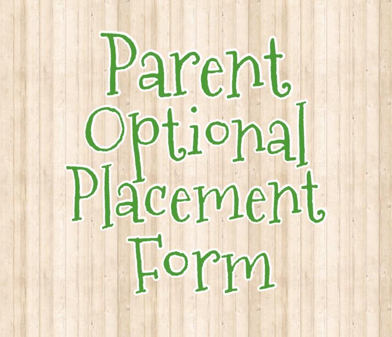 Icon for Parent Optional Placement Form