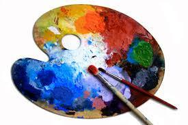 Paint pallet and brushes