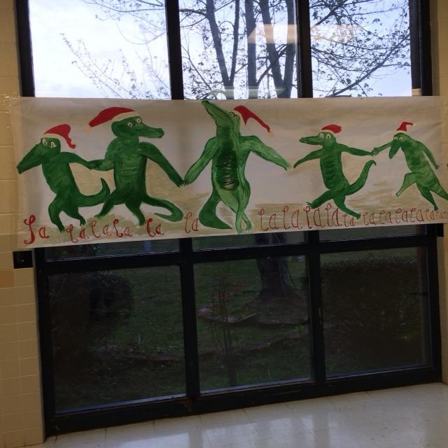 Gators dancing