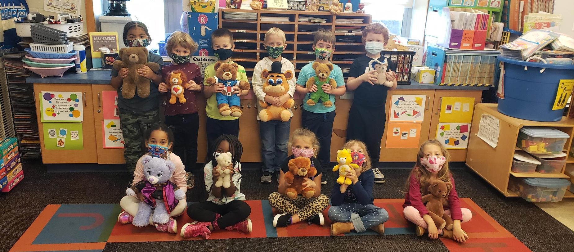 kindergarten with their teddy bears