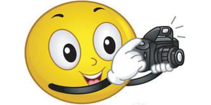 smiling face with camera clip art
