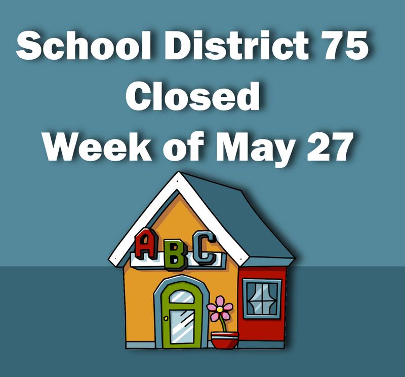 D75 School Closing Graphic