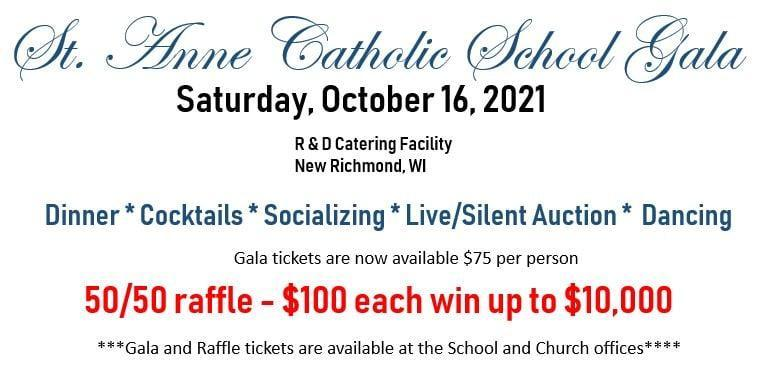 Come one, come all - it'll be a ball!  St Anne Catholic School Gala - Saturday, October 16, 2021 - Check out the details! Featured Photo