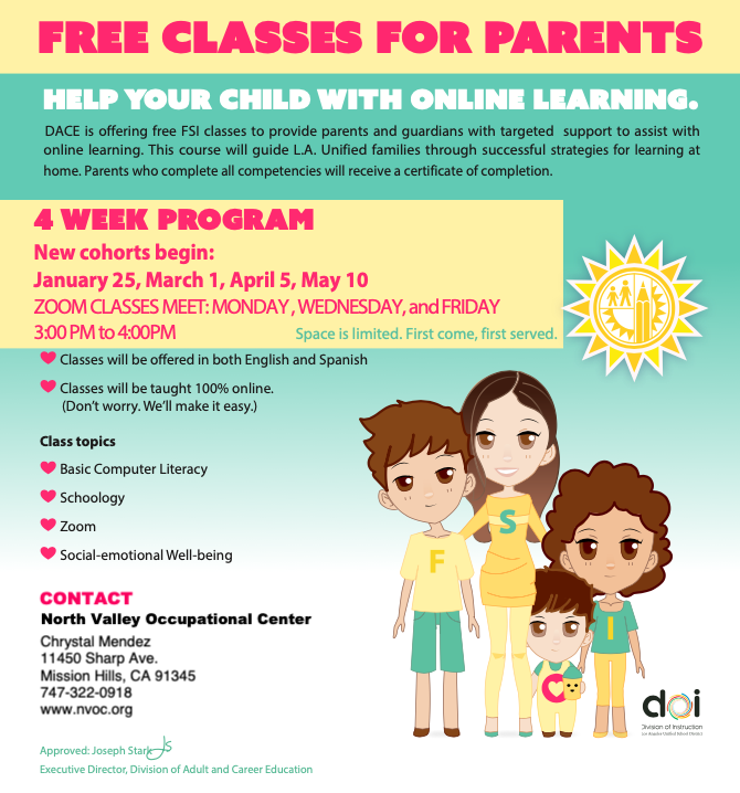 Free Classes for Parents Featured Photo