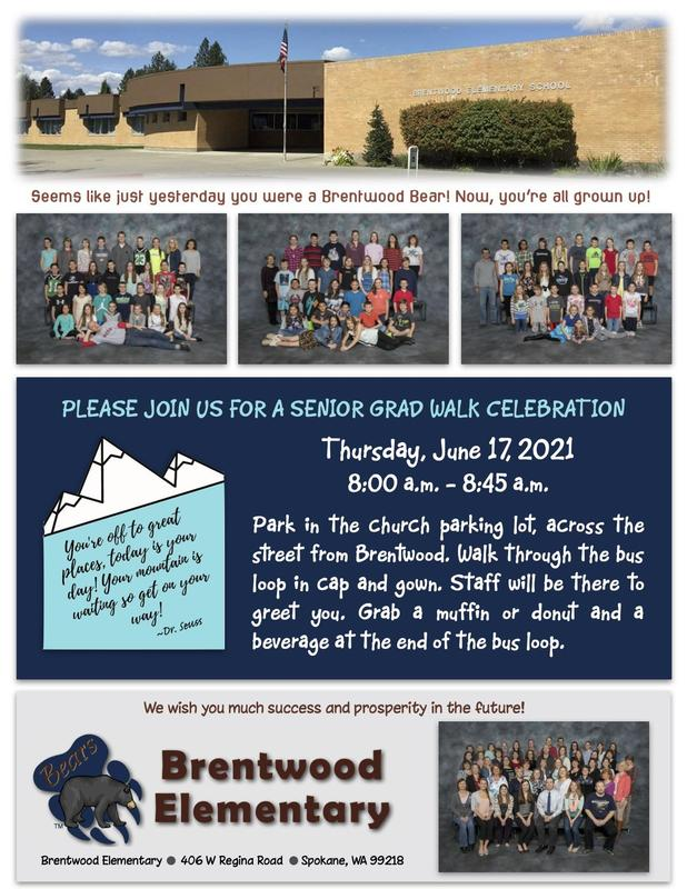 Senior Graduation Walk at Brentwood Invite