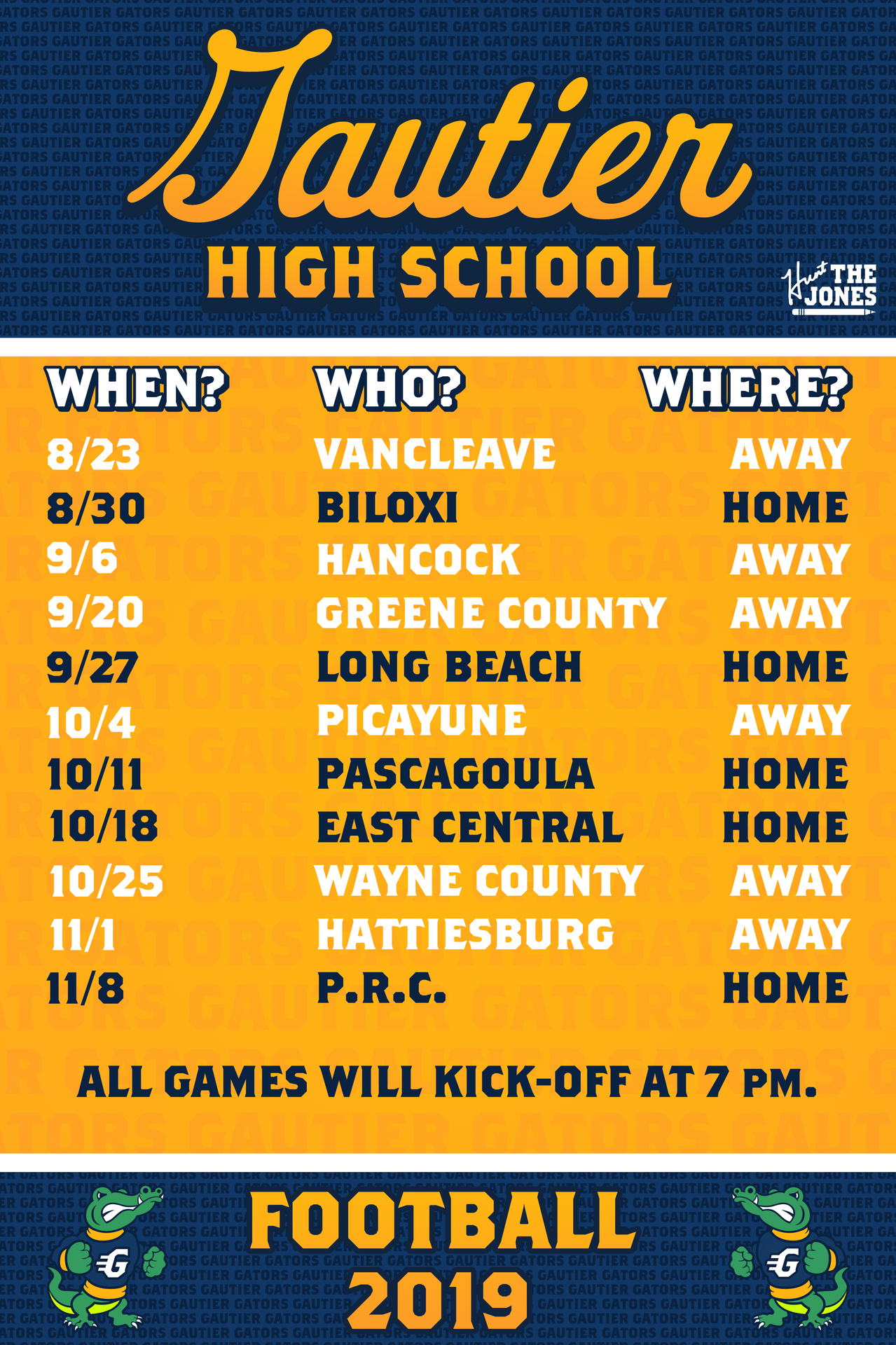 Varsity Football Schedule Football Gautier High School