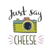 say cheese logo