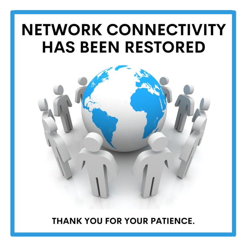 Network Connectivity Restored Featured Photo