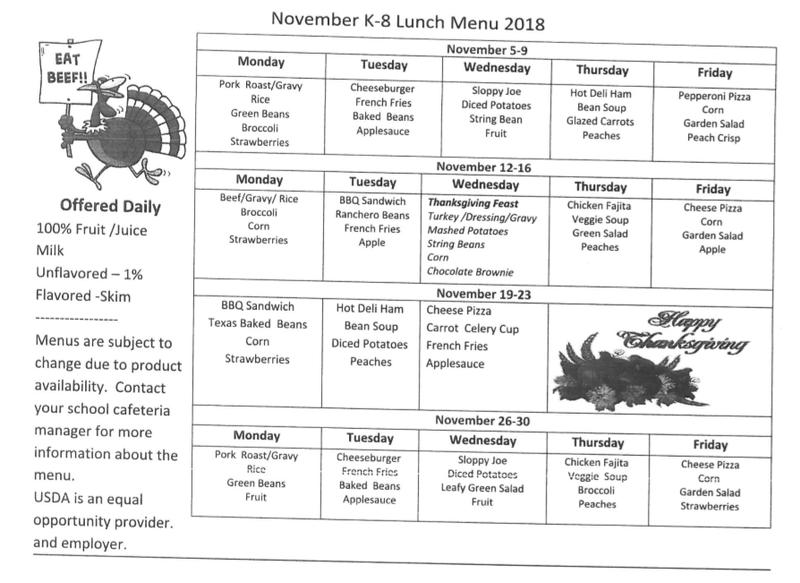 November menu