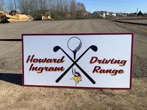 The Howard Ingram Driving Range Sign
