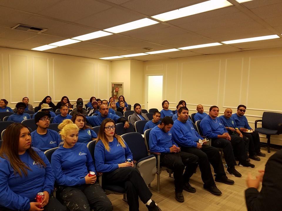 Pomona students at an LA County BOS meeting