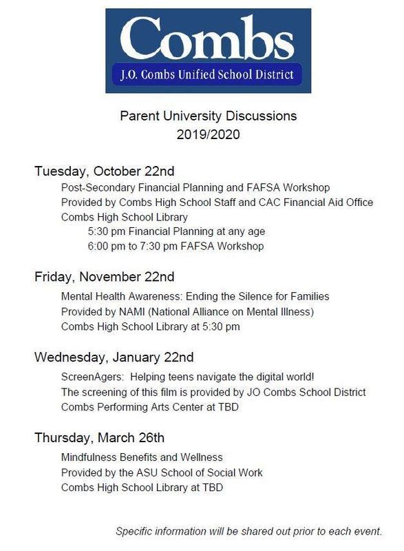 parent university discussion flyer