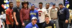 Ten Brewer football players signed letters of intent to play at the college level on National Signing Day, Feb. 6.