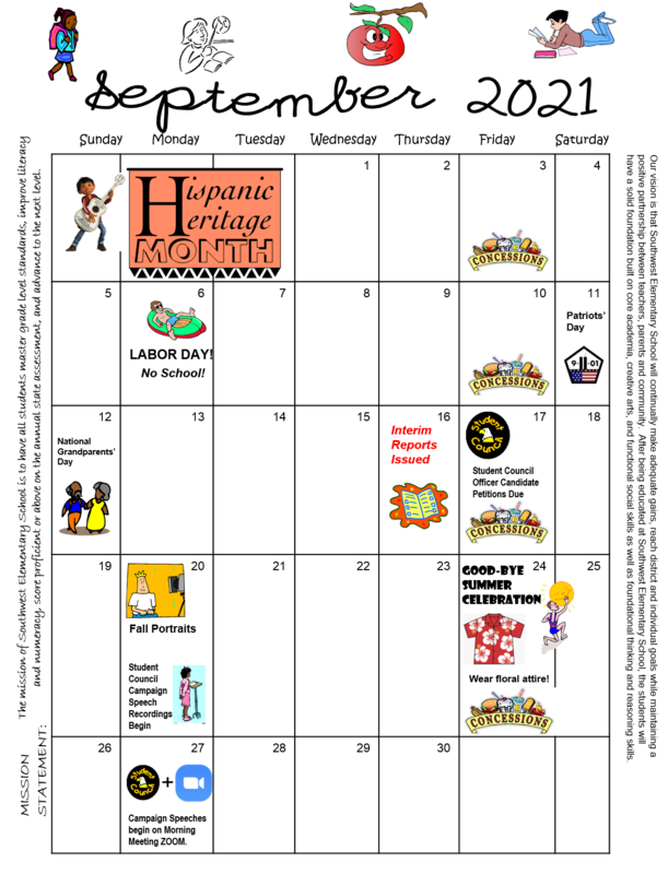 September 2021 Calendar Thumbnail Image