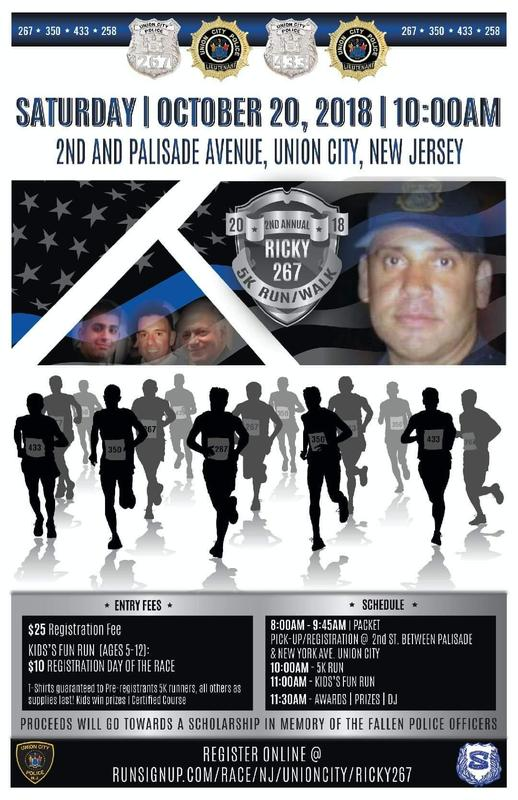 2nd annual Ricky 267 5K run/walk flyer