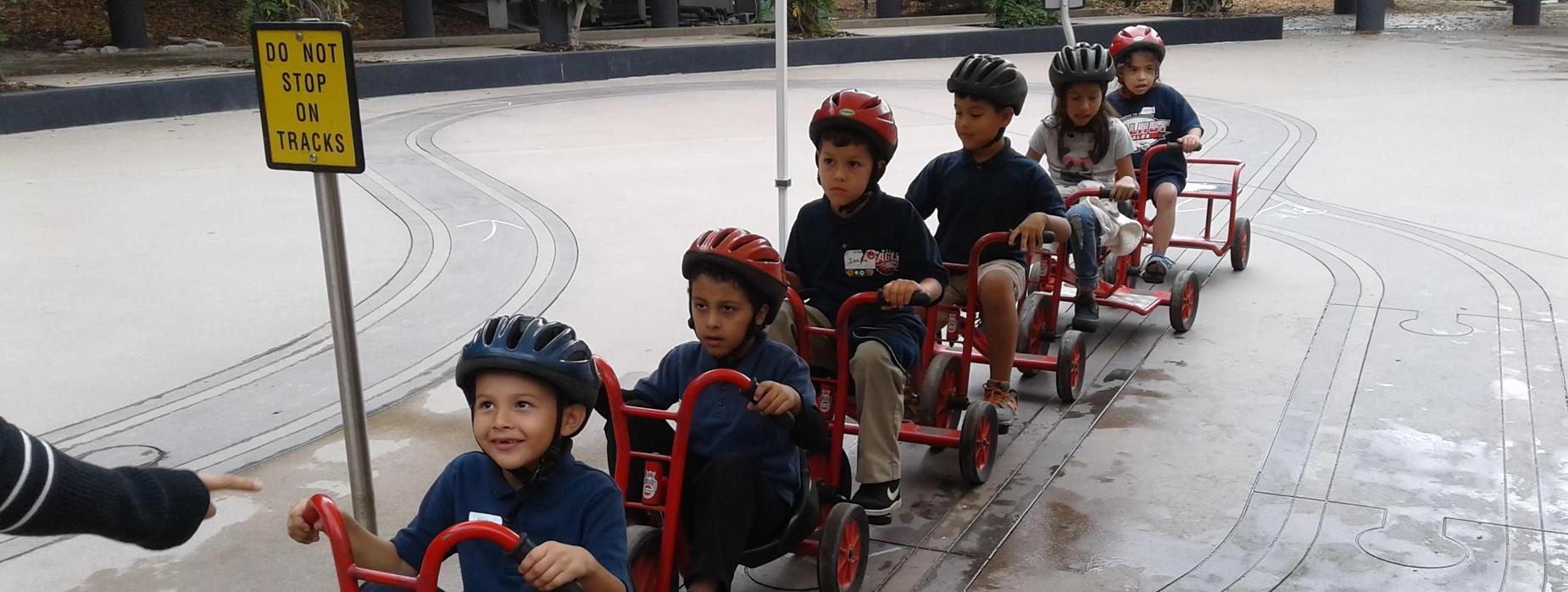 Kindergarten students at Kids' Space