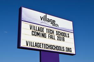 Village Tech Schools' new sign
