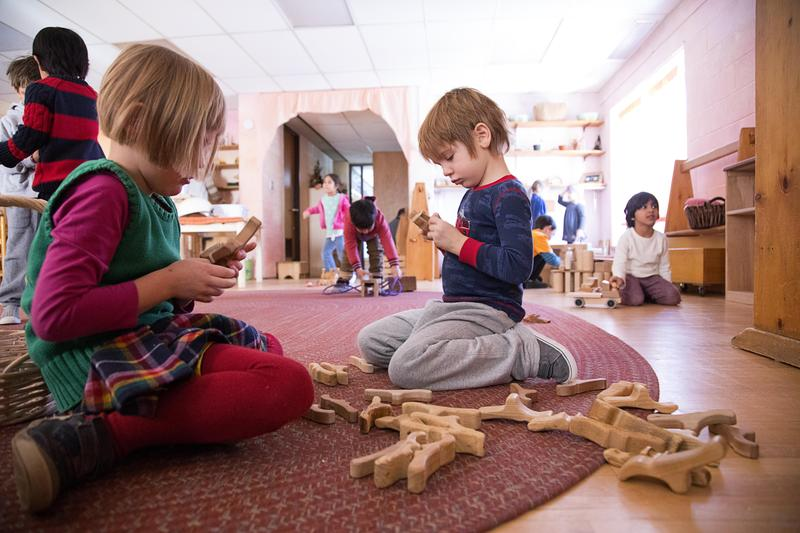 Kindergartners at play