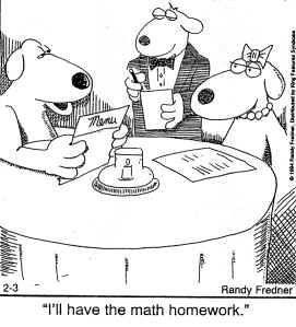 'I'll Have the Math Homework'