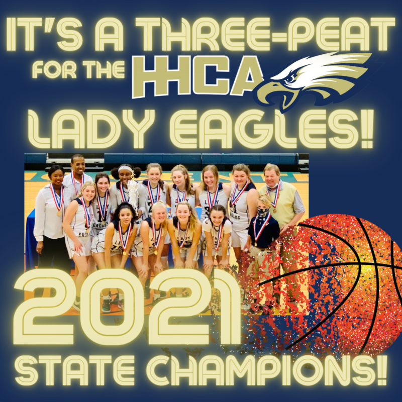 HHCA Lady Eagles 2021 State Champions