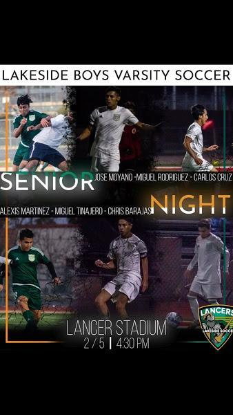 Senior Night lineup!
