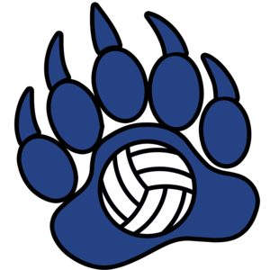 Bear paw volleyball clip art
