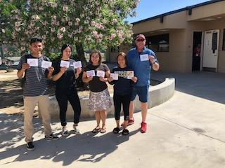 KHSD PAL students with Mother's Day cards.