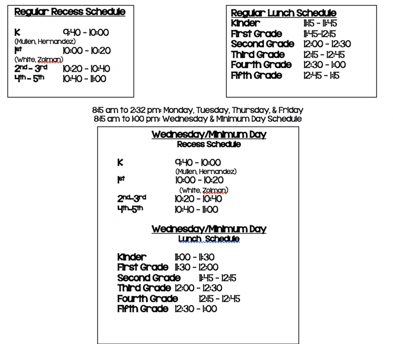 Bell Schedule! Featured Photo