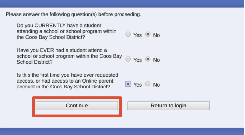 Registration screenshot