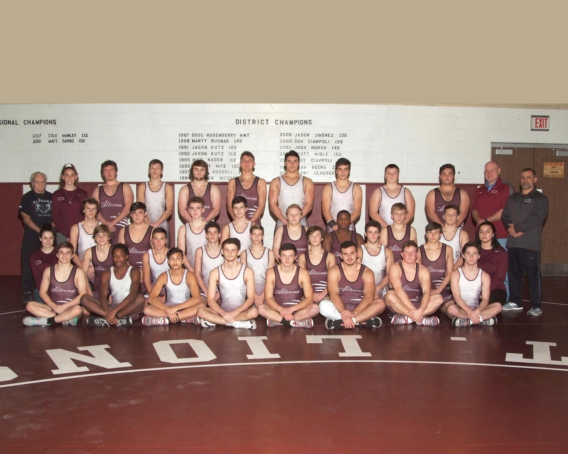 2018-19 wrestling team