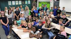 5th grade students from Juniata Gap Elementary