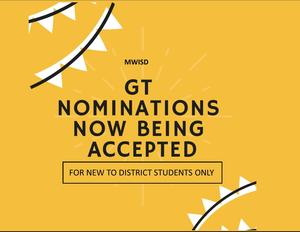 gt NOMINATIONS NOW BEING ACCEPTED
