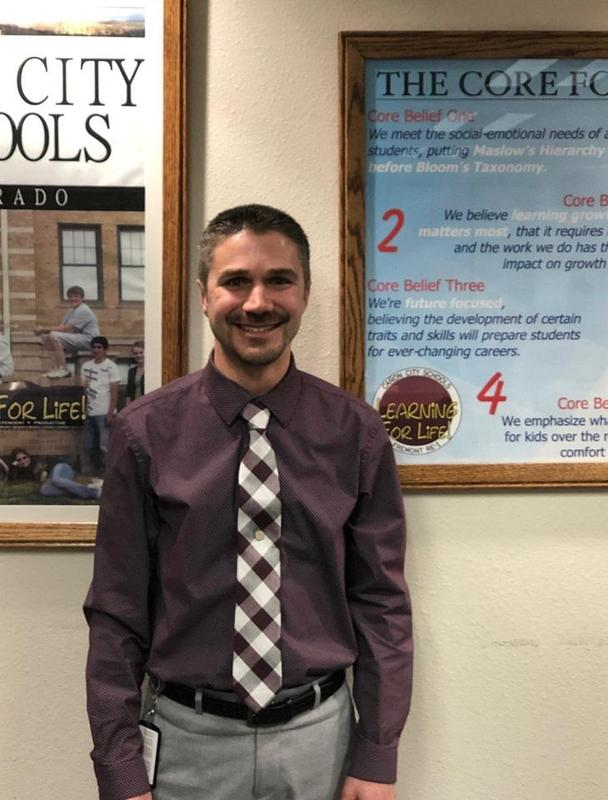 Our newest Principal in the Cañon City School District is Garrett Olguin!