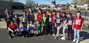 Students sporting their Jerseys