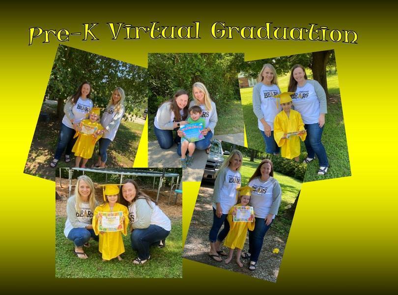 Pre-K virtual graduation pics