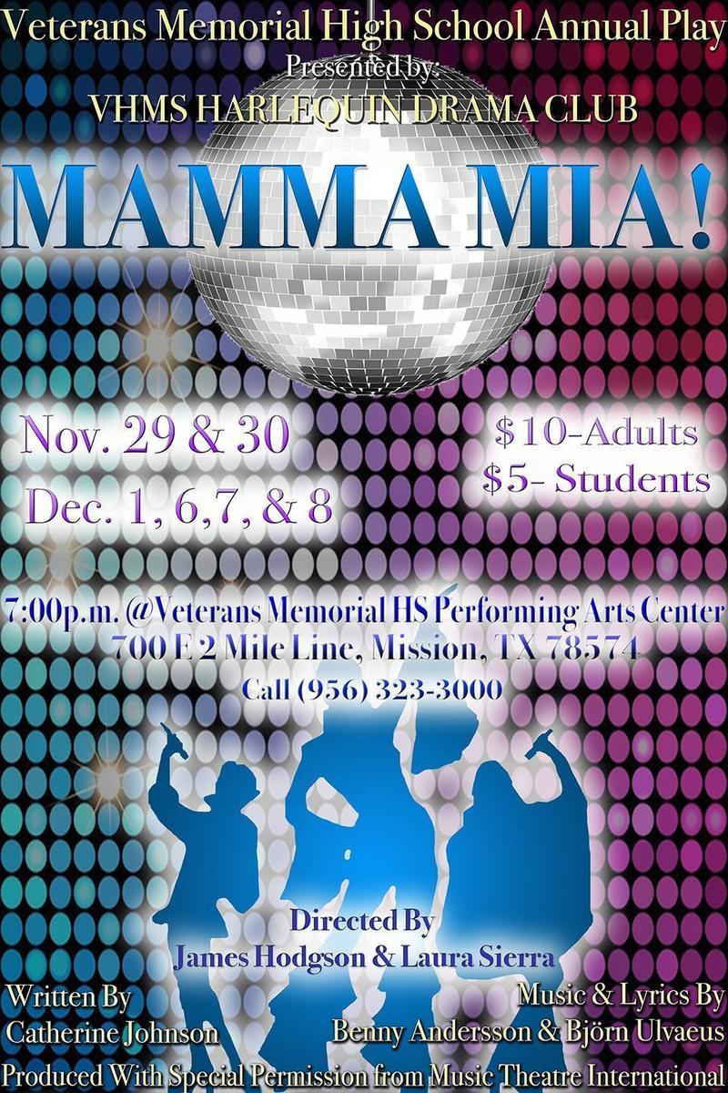 VMHS Mamma Mia flyer