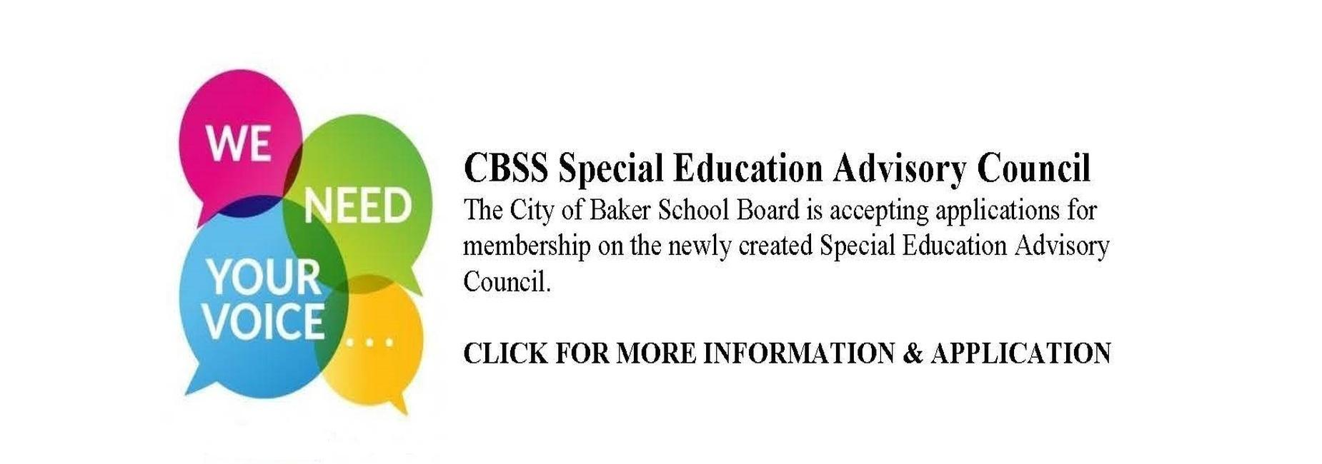 a photo ad for the Special Education Advisory Council