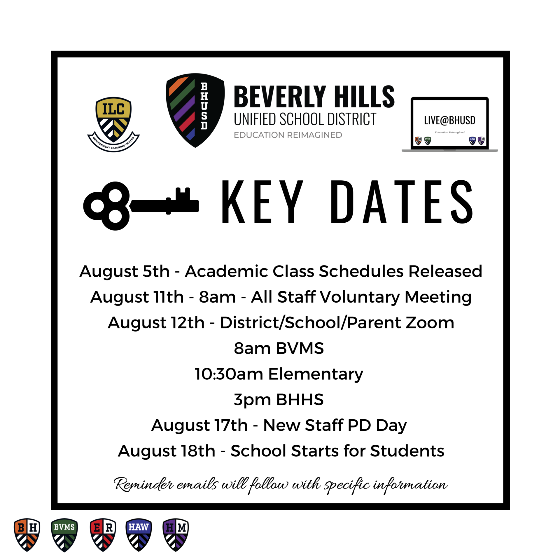 Key Dates August
