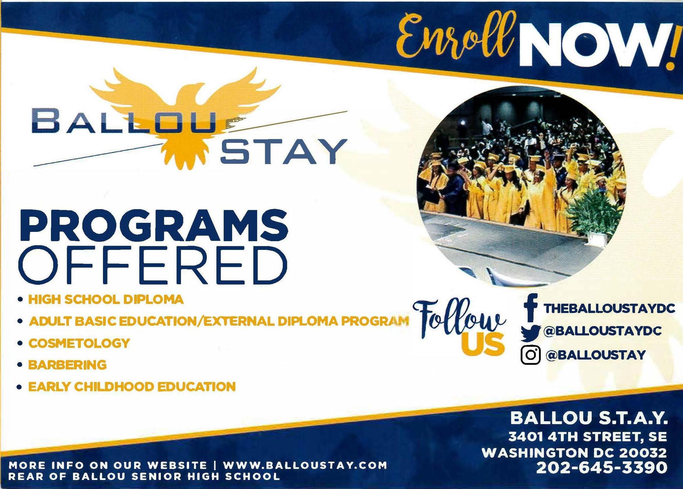 Ballou Stay Enrollment 2020 21 Enrollment Ballou Stay Opportunity Academy